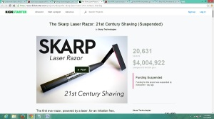 MICO Wars - How US$189 Skarp Laser Razor was kicked off kickstarter and resurrectred on Indiegogo - 13-10-2015 LHDEER