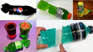 How to make Soda Bottle shaped Glow-in-the-Dark Gummy Soda or Fruit Juice (2)
