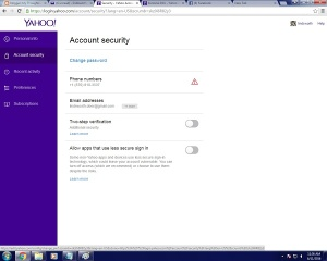 yahoo password  03